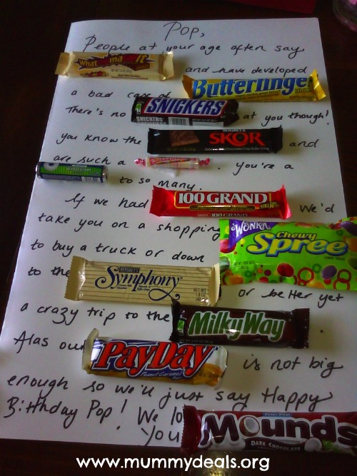 Candy Bar Poem | Birthday Candy bar Poem