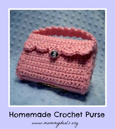 Homemade Crochet Purse for Operation Christmas Child