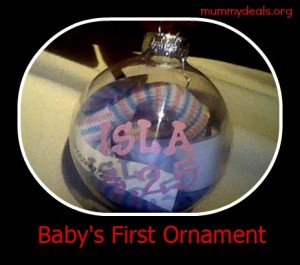baby's first ornament Christmas gift idea