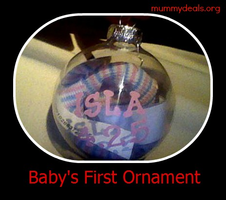 babys first ornament christmas gift idea