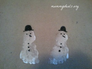 Homemade Snowman Footprint Doormat