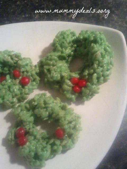 Rice Krispies Treats Wreath Cookies