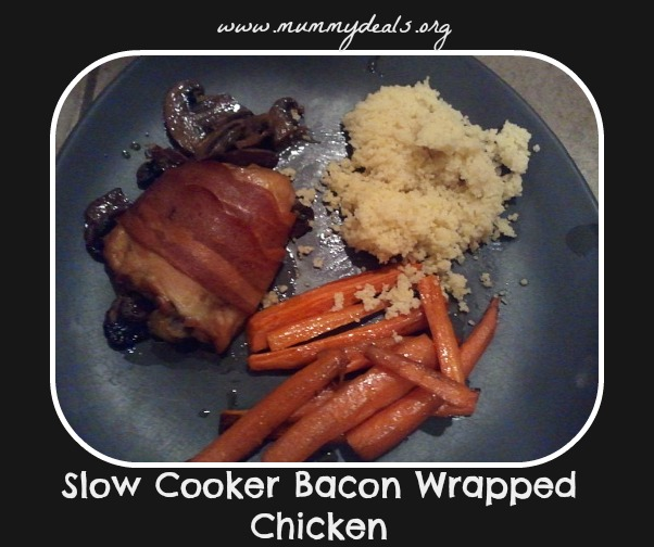 Slow Cooker Bacon Wrapped Chicken