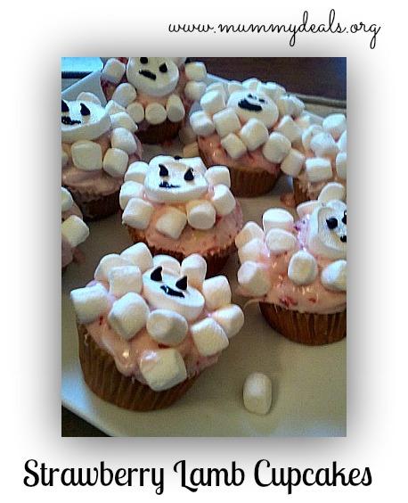 lamb cupcakes with marshmallows