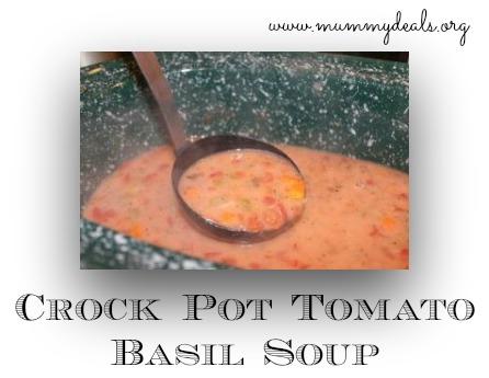 Crock Pot Soup Recipes, Slow Cooker Tomato Basil Soup