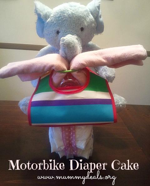 Motorbike Diaper Cake