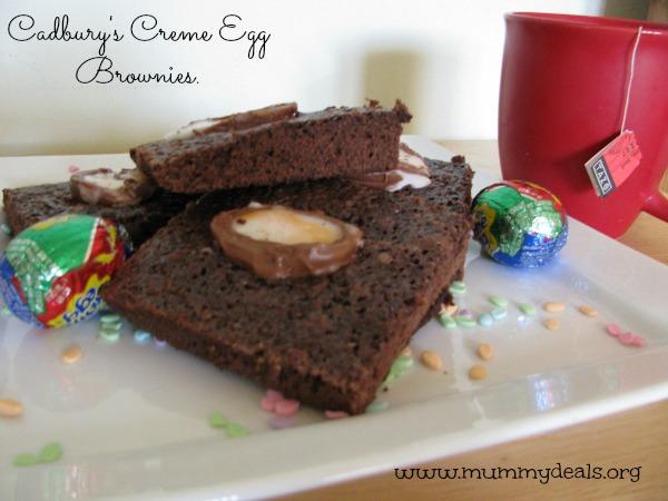 Cadbury's Creme Eggs Brownies