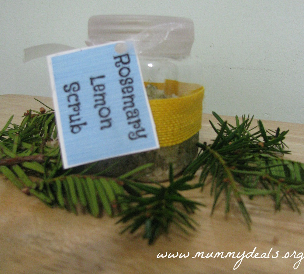 Lemon Rosemary Salt Scrub