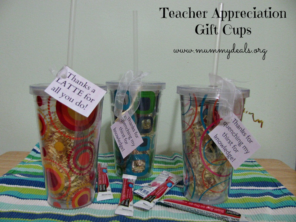 reusable cups Teacher Appreciation Week Gift