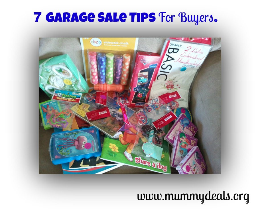 garage sale tips for buyers