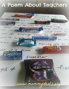 teacher appreciation candy bar poem