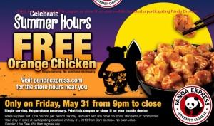 Panda Express Free Chicken