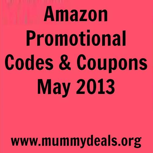 Amazon Promotional Codes May 2013