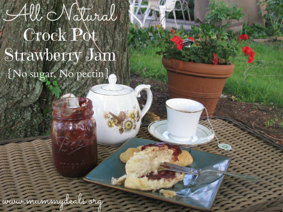 All Natural Crock pot Strawberry jam