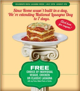 Lasagna Week