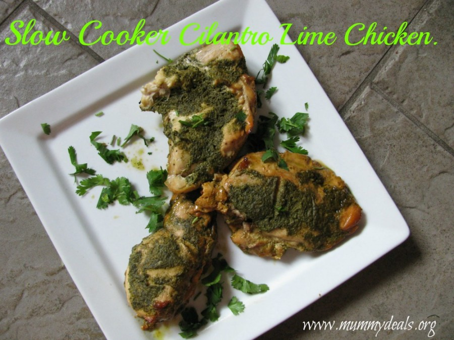 Slow Cooker Cilantro Lime Chicke