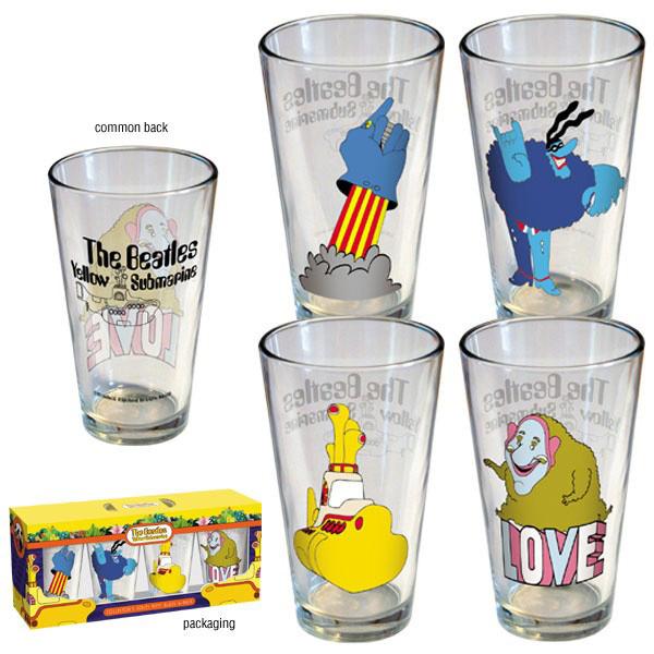 Beatles Yellow Submarine Pint Glass $19.50 (Reg. $38.99)