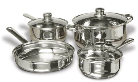Cuisine Select Landon 7-Piece Stainless Steel Cookware Set $32.16 (SAVE $47.83)