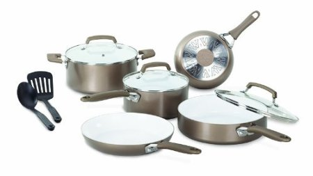 WearEver Pure Living Nonstick Ceramic Coating PTFE-PFOA-Cadmium Free Dishwasher Safe Cookware Set $100.87 (SAVE $49.12)