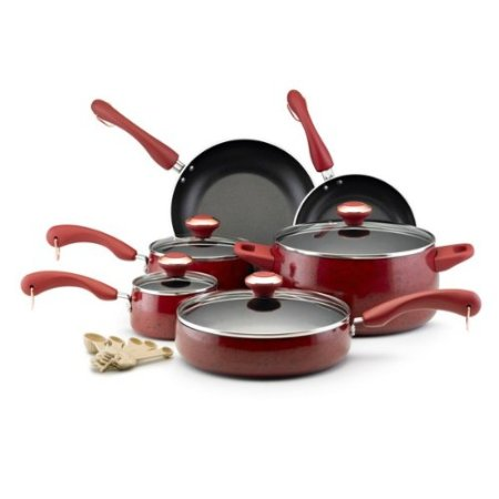 Paula Deen 12512 15-Piece Porcelain Cookware Set $85.63 (SAVE $34.36)