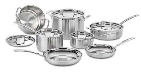 Cuisinart MCP-12N MultiClad Pro Stainless Steel 12-Piece Cookware Set $299 (SAVE $371)