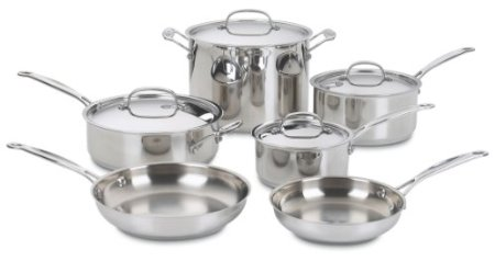 Cuisinart 77-10 Chef's Classic Stainless 10-Piece Cookware Set $127.25 (SAVE $272.75)