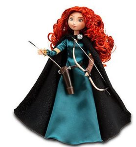 "Disney Store Exclusive 11"" Classic Doll Brave Princess Merida"