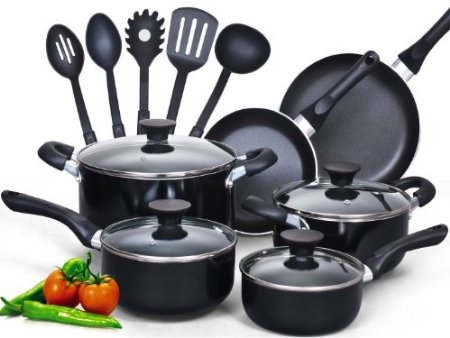 Cook N Home 15 Piece Nonstick Cookware Set $55.26 (SAVE $14.73)
