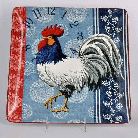 AMERICANA ROOSTER SQUARE PLATTER $14.98 (Reg. $29.95)