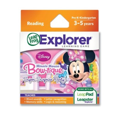 LeapFrog Explorer Learning Game: Disney Minnie's Bow-tique Super Surprise Party $15.43 (SAVE $9.56)