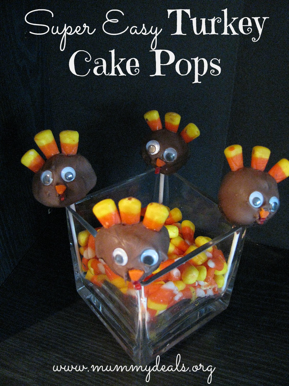 easy turkey cake pops
