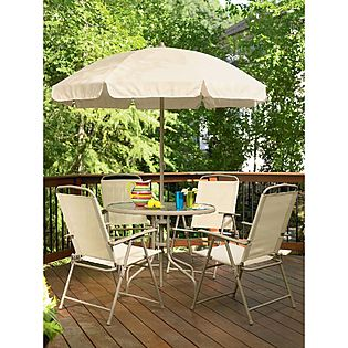 Garden Oasis  6 Pc. Folding Patio Set $129 (SAVE $50)