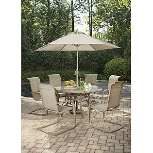 Jaclyn Smith Today  Stegner Aluminum Dining Table $53.99 (SAVE $126)