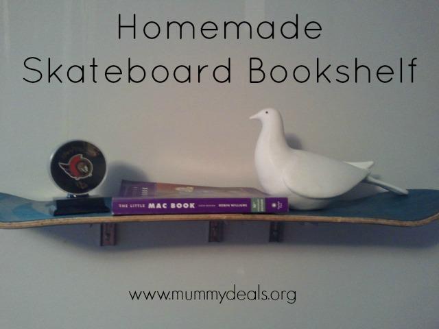 Homemade Skateboard Bookshelf