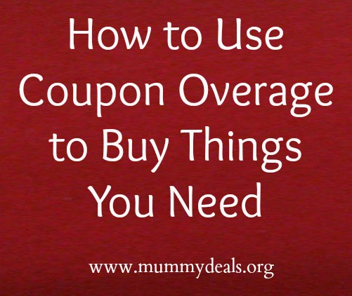 How to Use Coupon Overage