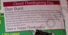 Menards Closed Thanksgiving