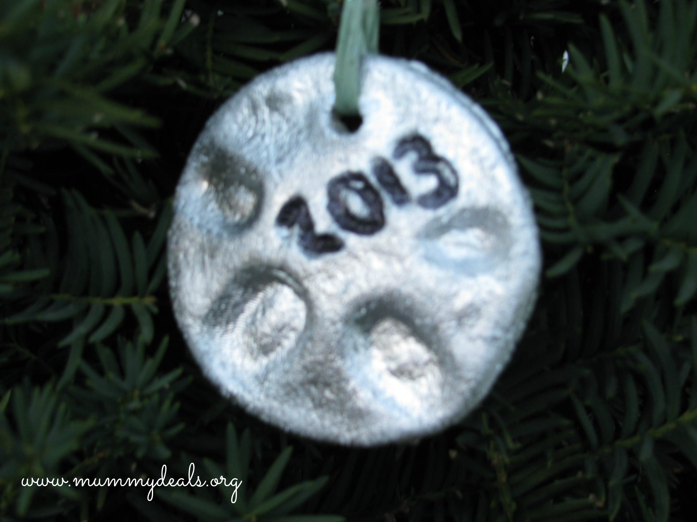 Fingerprint Salt Dough Ornaments Recipe