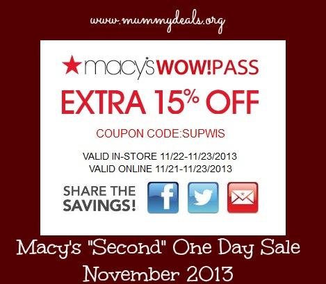 Macy's One Day Sale