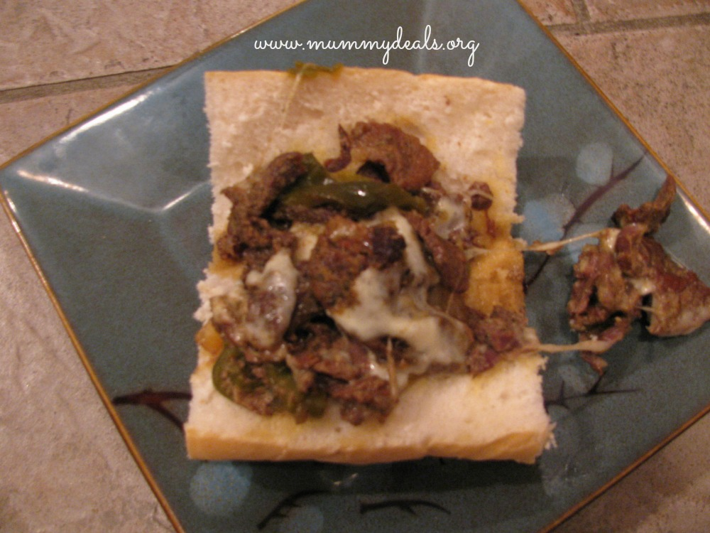 Crock pot Philly Cheese Steak Sandwich