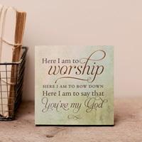 Lyrics for Life - Here I Am to Worship - Wall Art $4.99 (Reg. $12.99)