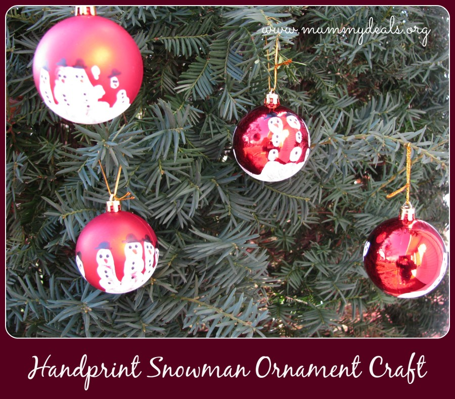 Handprint Snowman Ornament Craft