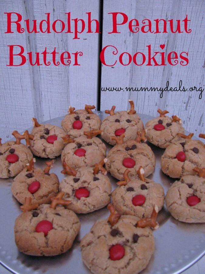 Rudolph Peanut Butter Cookie