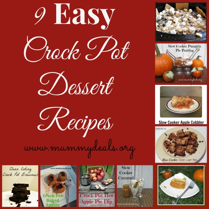 9 Easy Crock Pot Dessert Recipes
