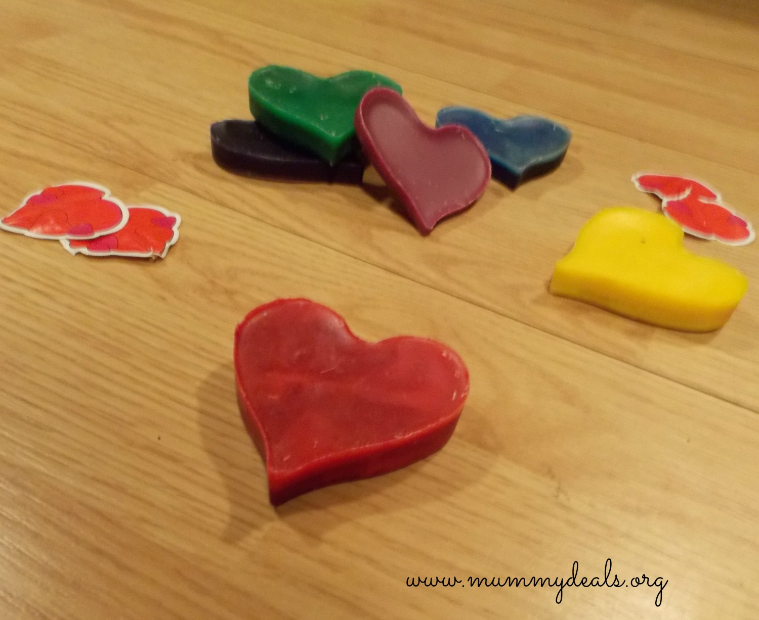 Homemade Valentine's Day Crayons