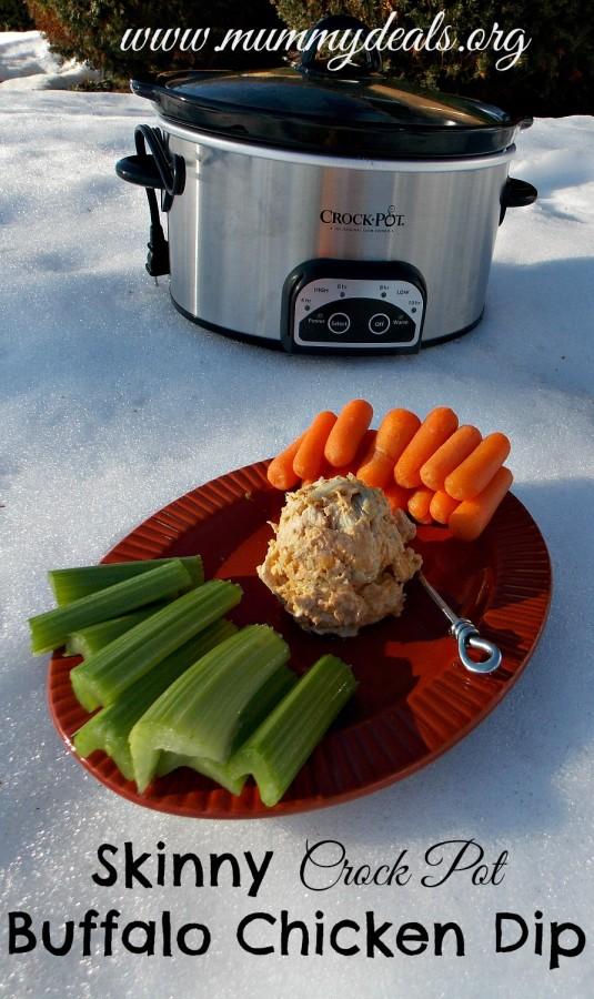 Skinny Crock Pot Buffalo Chicken Dip 6