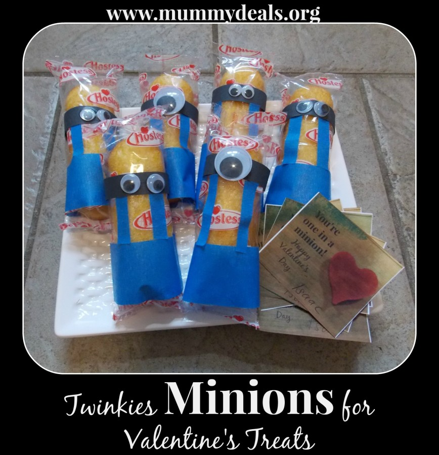Twinkies Minions for Valentine's Treats