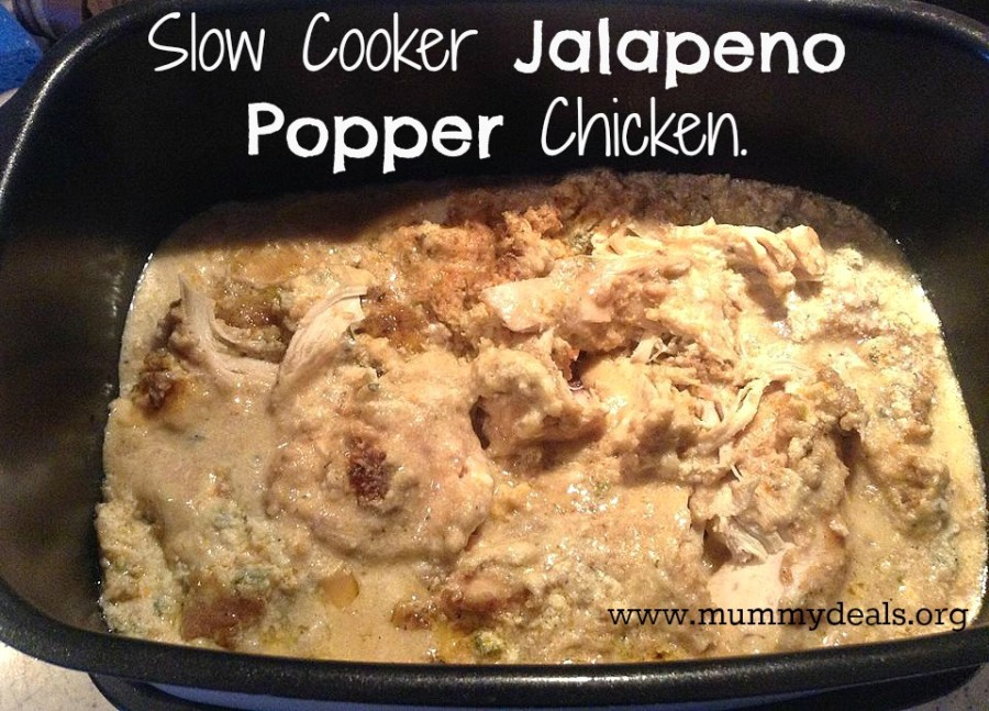 Slow Cooker Jalapeno Popper Chicken