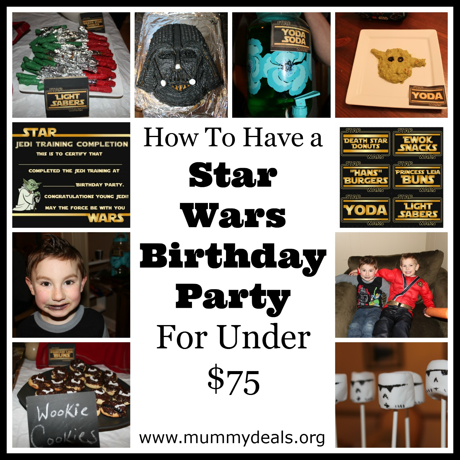 How To Have a Star Wars Birthday Party For Under $75
