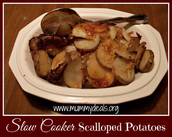 Slow Cooker Scalloped Potatoes
