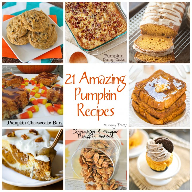 21 Amazing Pumpkin Recipes